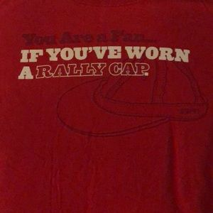 ESPN Rally Cap Red T-Shirt Baseball Fans Nationals